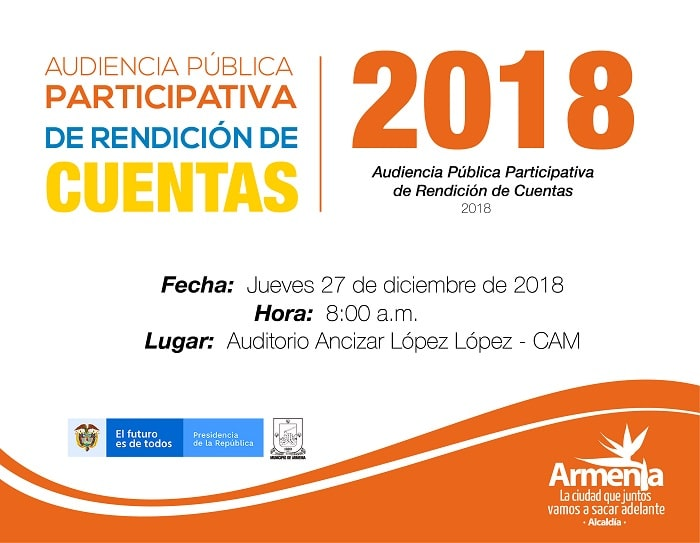 Audiencia Publica Participativa de Rendición de Cuentas 2018. 27-12-2018